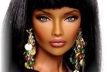 Modern art  'Barbie'dolls