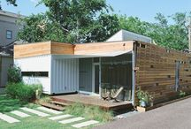 contained living / shipping containers transformed into living spaces