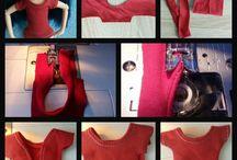 Blythe sews