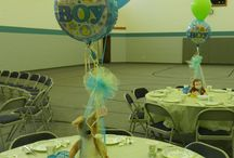 Baby Shower - blue, white and green