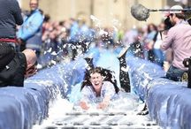 Make Sunday special Bristols  Giant Pop-Up Water Slide / What a wonderful day! Sunshine; amazing performances, Just wonderful!! This is why we love Bristol