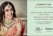 'Colours of Life' Collection / Enchanting designs that complement your beauty and radiance, the 'Colours of Life' collection is perfect for those who choose to be the epitome of grace and refinement.