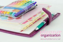 Planner Organization / Ideas and tips of how to organize your planner.