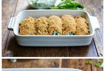 Italian dishes / Chicken & mozzarella rolls