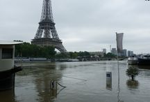 Paris - crue juin 2016 / La Seine à Paris lors de la crue du mois de juin 2016, au lendemain de son pic à plus de 6 mètres