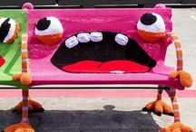 Guerrilla Knitting ... Yarnbombing Animals / At Kawaii Animals we love all animals.  Check out our online store of unusual animal themed toys and gifts.  www.kawaiianimals.com   www.facebook.com/mykawaiianimals   @MyKawaiiAnimals / by Kawaii Animals