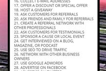 Marketing, Promotion, Referal Tips / Tips on  marketing, promotion, referral tips for building a 6-7 figure lifestyle, holistic, or educational business, practice, or Empire at home or online.