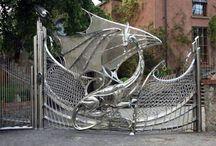 kerítés, kapu
