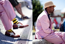 My Favourite  in Menswear / Love men in colour bright suits casual wear, bright jeans .....who says men can't wear colour? Ohh yes they can!!! / by Kiwi D Waterman