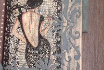 home deco / collage et pochoir 3D