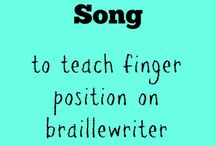 Teaching braille finger position