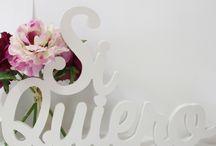 Letras decorativas para bodas / Letras decorativas para el día de tu boda, decora con letras y haz de tu boda, una boda especial y diferente.