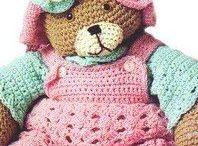 Crochet bear outfits