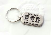 Hand Stamped Father's Day Ideas / Hand stamped ideas for Father's Day Gifts.