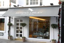 Serena Linley Provence / This shop for Serena Linley in Knightsbridge has a 40 sq.m ground floor retail space with a rear courtyard garden and an upper mezzanine area arranged around a double height void.