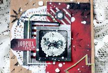 Cards - Christmas mixed media