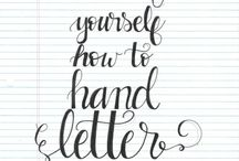 Hand lettering fun!