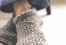 crochet and knit, feet