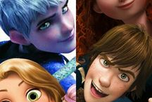 Rise of the Brave Tangled Dragons / The big Four: Jack Frost, Merida, Rapunzel and Hiccup!