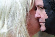 """Face On Face by Sebastian Bieniek (B1EN1EK) / """"Face On Face"""", series of photographs by Sebastian Bieniek (B1EN1EK) More ➔ https://www.b1en1ek.com/works/face-paint/2016-face-on-face/  #SebastianBieniek #Bieniek #B1EN1EK #FaceOnFace #Doublefaced #Twoface"""