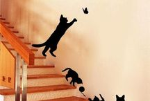 Cat Wall Stickers / Decorate your walls with some of the great Cat stickers from our collection.
