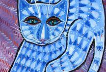 Cat art / by Carmen Schneider