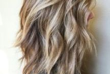 medium layered thick hair