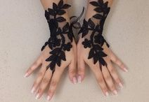 lace gloves / by handmade creative