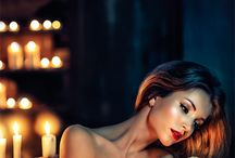 a Candle Lights