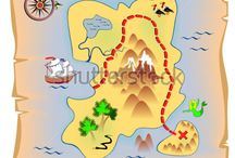 kawaii old timey map