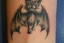 Летучая мышь татуировки