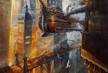 Dieselpunk, technology and inspiration for Hero's journey. / Fantasy