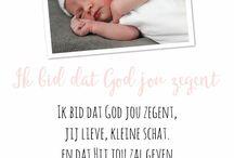 Geboortekaartje teksten