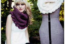 knit shawls, cowls, scarves / by closeknit sally Palin