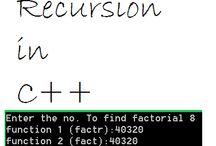 Factorial using recursion in C++ http://mindxmaster.blogspot.com/2015/09/factorial-using-recursion-in-c.html