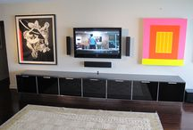 Media Room Design / Beautiful and Modern Media Rooms designed by Dresner Design in Chicago, IL