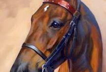 caballos cuadros