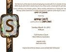 Invitations bridal shower, save the dates, and wedding