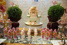 Festa Jardim - 1 ano / Festa de 1 ano da pequena Alice, com decoração temática de Jardim, no Espaço Florescer Eventos - Buffet infantil lúdico na Zona Leste de São Paulo.