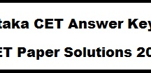 Karnataka CET Answer Key