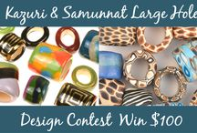 Kazuri & Samunnat Large Hole Design Contest / Show off your jewelry designs featuring either Kazuri large hole slider ceramic beads or Samunnat polymer clay large hole slider beads and you could win a prize in our latest design contest. Each design must contain at least one Kazuri or Sammunat large hole slider bead. No limit to number of designs entered. Technique and other materials used will be up to each entrant.