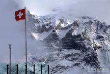 Alpy, Szwajcaria / Gór zimą