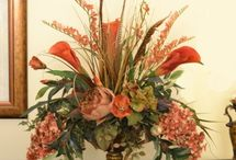 Articifial flower arrangement