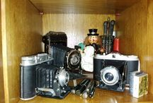 Old cameras and pictures