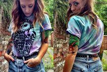 tie dye with slogans/prints