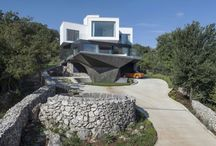 Gumno House is a private residence located in Risika, Croatia