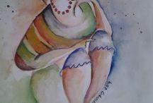 watercolor / Suluboya yapmayı sevmeye başladım
