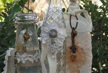 DIY Mixed media Bottles