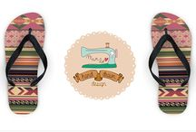 flip flop personalized with original pattern