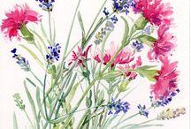 Kwiaty-akwarele